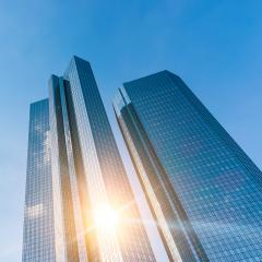 Modern business office skyscrapers, looking up to the sky in commercial district- Stock Photo or Stock Video of rcfotostock | RC-Photo-Stock