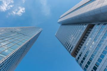 modern business skyscrapers raising to the sky- Stock Photo or Stock Video of rcfotostock | RC-Photo-Stock