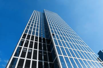 Modern business skyscrapers with glass facade- Stock Photo or Stock Video of rcfotostock | RC-Photo-Stock