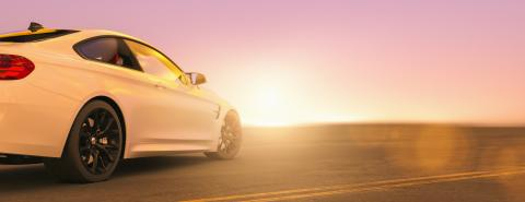 Modern car from behind at the street on sunset, copyspace for your individual text.- Stock Photo or Stock Video of rcfotostock | RC-Photo-Stock