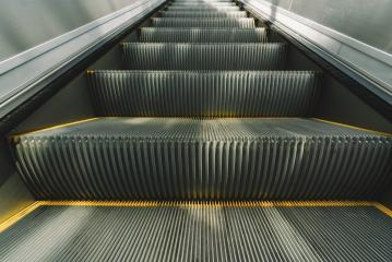 Modern escalator electronic system moving- Stock Photo or Stock Video of rcfotostock | RC-Photo-Stock