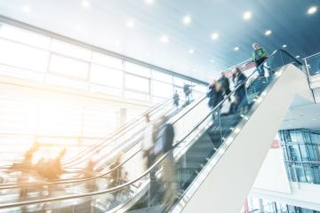 modern moving escalator at a Exhibition- Stock Photo or Stock Video of rcfotostock   RC-Photo-Stock