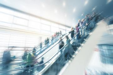 modern moving staircase at a trade fair- Stock Photo or Stock Video of rcfotostock | RC-Photo-Stock