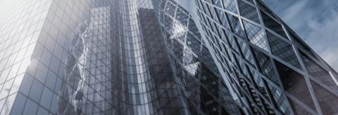 Modern office building skyscrapers with glass, banner size- Stock Photo or Stock Video of rcfotostock | RC-Photo-Stock