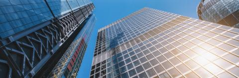 modern office buildings skyscraper in London city, banner size- Stock Photo or Stock Video of rcfotostock | RC-Photo-Stock