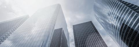 Modern office buildings skyscrapers, banner size- Stock Photo or Stock Video of rcfotostock | RC-Photo-Stock