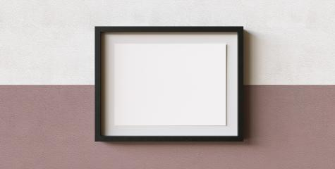 Modern picture frame template mock-up with mat in front of a wall, copyspace for your individual text.- Stock Photo or Stock Video of rcfotostock | RC-Photo-Stock