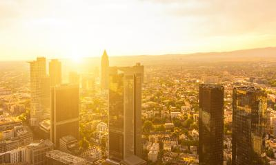 Modern skyline of Frankfurt at sunset, Germany- Stock Photo or Stock Video of rcfotostock | RC-Photo-Stock