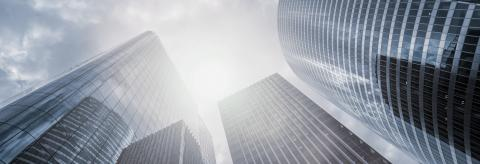 Modern skyscrapers in a business district, including copy space, banner size : Stock Photo or Stock Video Download rcfotostock photos, images and assets rcfotostock | RC-Photo-Stock.: