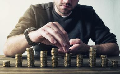 Money, Financial, Business Growth concept, Man put money coins to stack of coins- Stock Photo or Stock Video of rcfotostock | RC-Photo-Stock