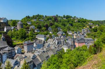 Monschau old town center with half-timbered houses- Stock Photo or Stock Video of rcfotostock | RC-Photo-Stock