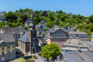 Monschau town center with half-timbered houses : Stock Photo or Stock Video Download rcfotostock photos, images and assets rcfotostock | RC-Photo-Stock.: