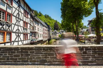 Monschau with half-timbered houses at summer- Stock Photo or Stock Video of rcfotostock | RC-Photo-Stock