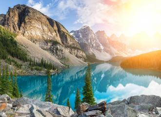 Moraine Lake in Banff National Park : Stock Photo or Stock Video Download rcfotostock photos, images and assets rcfotostock | RC-Photo-Stock.: