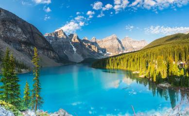 Moraine Lake panorama at the morning in the banff national park canada  : Stock Photo or Stock Video Download rcfotostock photos, images and assets rcfotostock | RC-Photo-Stock.: