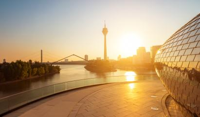 morning sunlight at dusseldorf in germany- Stock Photo or Stock Video of rcfotostock | RC-Photo-Stock