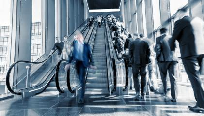 Motion Blurred business on a escalator- Stock Photo or Stock Video of rcfotostock | RC-Photo-Stock