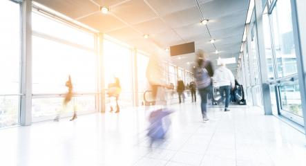 motion blurred commuters in a airport corridor- Stock Photo or Stock Video of rcfotostock | RC-Photo-Stock
