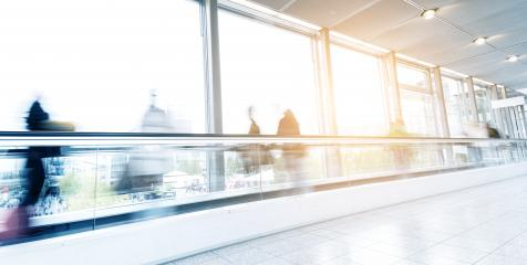 motion blurred commuters walking on a escalator floor- Stock Photo or Stock Video of rcfotostock | RC-Photo-Stock