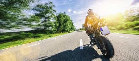 motorbike on the forest road riding. having fun driving the empty road on a motorcycle tour journey. copyspace for your individual text.- Stock Photo or Stock Video of rcfotostock | RC-Photo-Stock