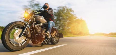 motorbike on the forest road riding. having fun driving the empty road on a motorcycle tour journey. copyspace for your individual text. - Stock Photo or Stock Video of rcfotostock   RC-Photo-Stock