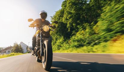 motorbike on the road riding and having fun on a motorcycle tour journey. copyspace for your individual text.- Stock Photo or Stock Video of rcfotostock | RC-Photo-Stock