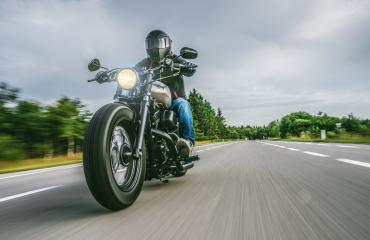 motorbike on the road riding. having fun riding the empty road on a motorcycle tour / journey : Stock Photo or Stock Video Download rcfotostock photos, images and assets rcfotostock | RC-Photo-Stock.: