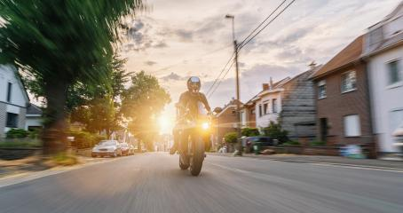 motorbike riding at a city road. driving on road on a motorcycle tour- Stock Photo or Stock Video of rcfotostock | RC-Photo-Stock