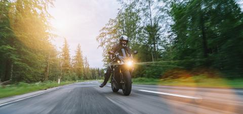 motorbike riding on the country road. driving on the empty road on a motorcycle trip. copyspace for your individual text.- Stock Photo or Stock Video of rcfotostock | RC-Photo-Stock