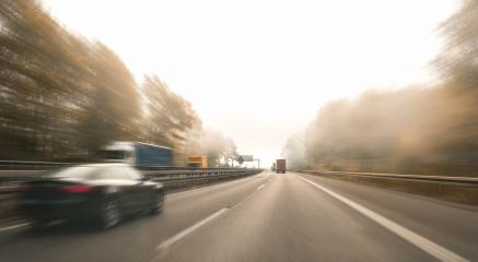 motorway, with limited traffic, on an autumn day- Stock Photo or Stock Video of rcfotostock | RC-Photo-Stock