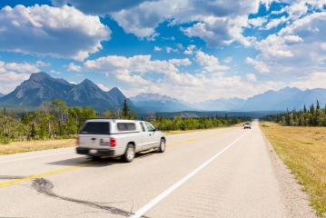 Mountain road in summer at the banff national park Canada- Stock Photo or Stock Video of rcfotostock | RC-Photo-Stock