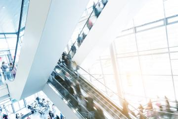 moving crowd at a escalator- Stock Photo or Stock Video of rcfotostock | RC-Photo-Stock