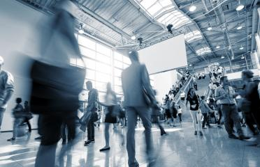 moving crowd at a International traid fair- Stock Photo or Stock Video of rcfotostock | RC-Photo-Stock