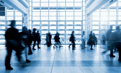 moving crowd at a tradeshow floor- Stock Photo or Stock Video of rcfotostock | RC-Photo-Stock