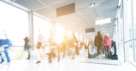 moving crowd in corridor of a Exhibition- Stock Photo or Stock Video of rcfotostock   RC-Photo-Stock