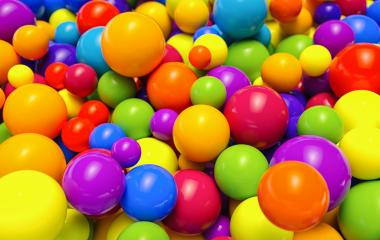 Multi-colored plastic balls in a children's playroom - 3D Photorealistic- Stock Photo or Stock Video of rcfotostock | RC-Photo-Stock