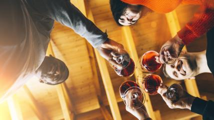 Multiracial Happy friends having fun indoors, Young people enjoying wine time together in a farmhouse vineyard countryside, Youth and friendship concept image- Stock Photo or Stock Video of rcfotostock | RC-Photo-Stock