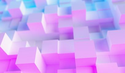 neon uv blue and purple futuristic cubes surface : Stock Photo or Stock Video Download rcfotostock photos, images and assets rcfotostock | RC-Photo-Stock.: