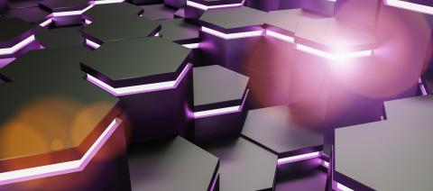 neon uv purple lights abstract hexagons background pattern, gaming Concept image - 3D rendering - Illustration - Stock Photo or Stock Video of rcfotostock | RC-Photo-Stock