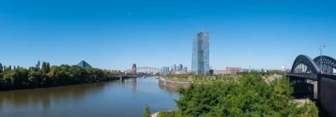 New headquarters of the European Central Bank or ECB in Frankfurt Panorama- Stock Photo or Stock Video of rcfotostock | RC-Photo-Stock
