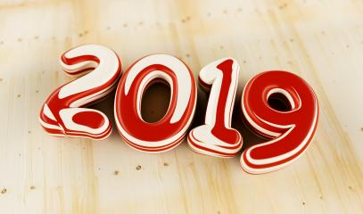 New year 2019 celebration. colorful inked numeral 2019 on wood background. New Year's Eve, concept image - 3d rendering - Illustration  : Stock Photo or Stock Video Download rcfotostock photos, images and assets rcfotostock | RC-Photo-Stock.: