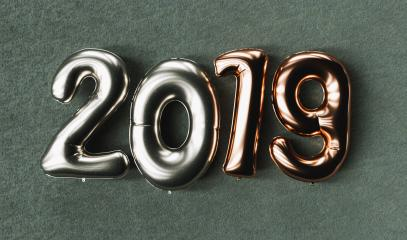 New year 2019 celebration. copper metallic silver numeral 2019 on black background. New Year's Eve, concept image - 3d rendering - Illustration : Stock Photo or Stock Video Download rcfotostock photos, images and assets rcfotostock | RC-Photo-Stock.: