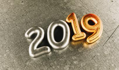 New year 2019 celebration. Silver numeral 2019 and Copper mettalic background. New Year's Eve, concept image - 3d rendering - Illustration : Stock Photo or Stock Video Download rcfotostock photos, images and assets rcfotostock | RC-Photo-Stock.: