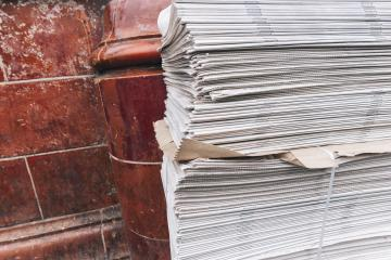 newspaper stack on street- Stock Photo or Stock Video of rcfotostock | RC-Photo-Stock