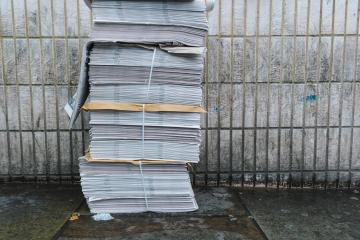 newspaper stack on street in london- Stock Photo or Stock Video of rcfotostock | RC-Photo-Stock