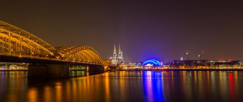 night view panorama of the Cologne - Stock Photo or Stock Video of rcfotostock | RC-Photo-Stock