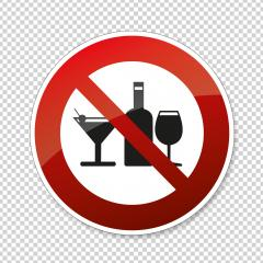 No alcohol. No alcohol drinks in this area, prohibition sign on checked transparent background. Vector illustration. Eps 10 vector file. : Stock Photo or Stock Video Download rcfotostock photos, images and assets rcfotostock | RC-Photo-Stock.: