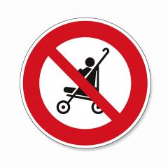 No Buggy strollers. Not allow stroller, carriage in this area, Do not use prams, prohibition sign on white background. Vector illustration. Eps 10 vector file.- Stock Photo or Stock Video of rcfotostock | RC-Photo-Stock