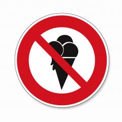 No ice cream sign. No ice allowed in this area, Forbid ice waffle creamy Halt allowed, prohibition sign on white background. Vector illustration. Eps 10 vector file.- Stock Photo or Stock Video of rcfotostock | RC-Photo-Stock