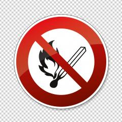 No open flame sign.  No fire, No access with open flame or no smoking, prohibition sign, on checked transparent background. Vector illustration. Eps 10 vector file. : Stock Photo or Stock Video Download rcfotostock photos, images and assets rcfotostock | RC-Photo-Stock.:
